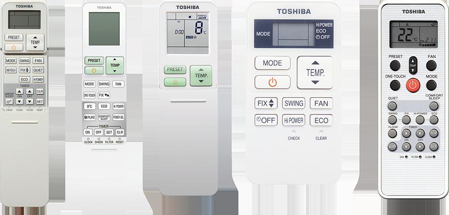 Riadenia - Klíma Toshiba
