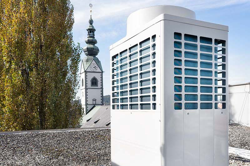 VRF on roof in Klagenfurt city center